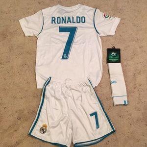 Adidas Real Madrid Ronaldo Kids Jersey Set
